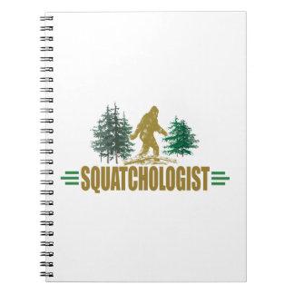 Lustiges Squatchologist, Sasquatch, glaube ich Spiral Notizblock