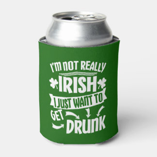 Lustiges St. Patricks Day bin ich nicht wirklich Dosenkühler