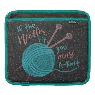Lustiges strickendes Spaß-Stricker-Nadel-Garn Sleeve Für iPads