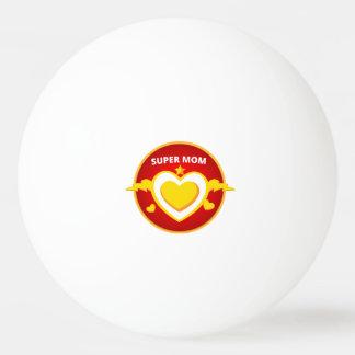 Lustiges Superheld-Blitz-Mammaemblem Ping-Pong Ball