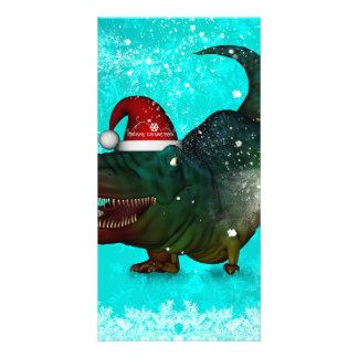 Lustiges T-rex Fotokartenvorlagen