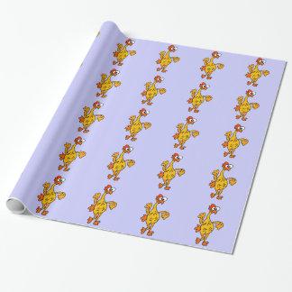 Lustiges Tanzen-Gummi-Huhn Geschenkpapier