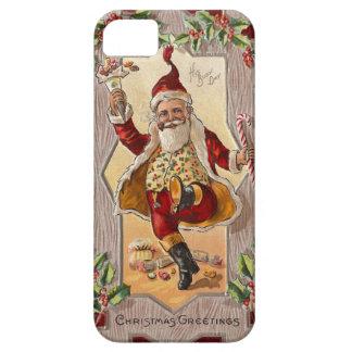 Lustiges tanzendes lustiges Weinlesen Weihnachten iPhone 5 Cover