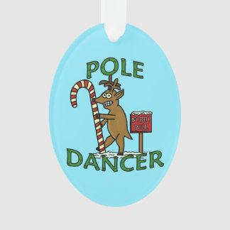 Lustiges Tänzer-Weihnachtsren-Wortspiel Ornament