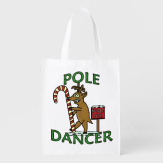 Lustiges Tänzer-Weihnachtsren-Wortspiel Wiederverwendbare Einkaufstasche