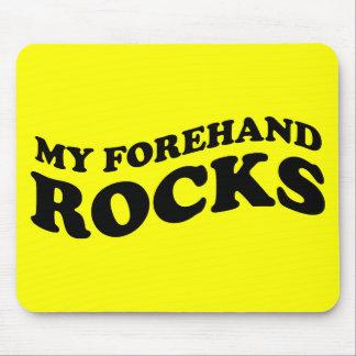 Lustiges Tennis Mousepad: Meine Vorhand-Felsen