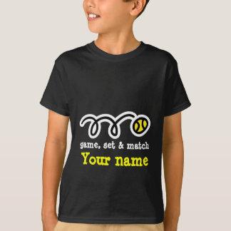Lustiges Tennist-shirt: Spiel-Set u. -match. Ihr T-Shirt