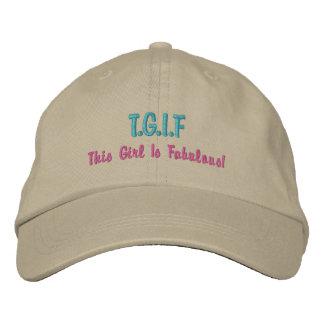 "Lustiges TGIF ""dieses Mädchen ist fabelhaftes"" Bestickte Baseballcaps"