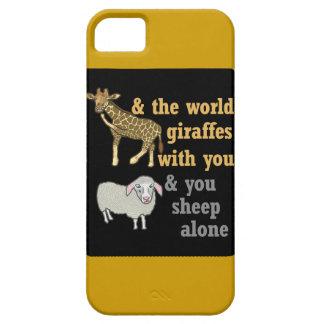 Lustiges Tierwortspiel, Giraffe und Schafe Schutzhülle Fürs iPhone 5