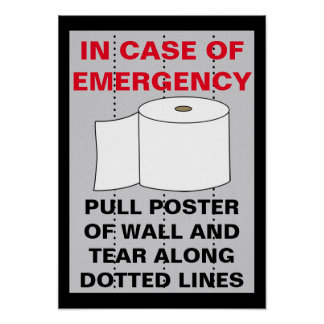 Lustiges Toilettenpapier-Badezimmer Poster