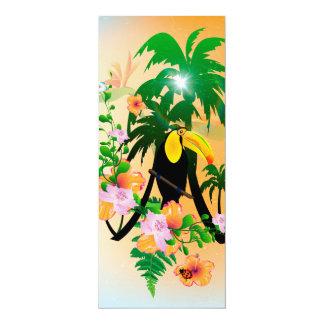 Lustiges toucan 10,2 x 23,5 cm einladungskarte