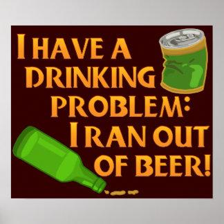 Lustiges trinkendes Bier Poster