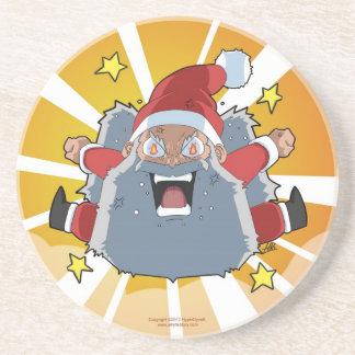 Lustiges verärgertes Sankt-Weihnachten Getränkeuntersetzer