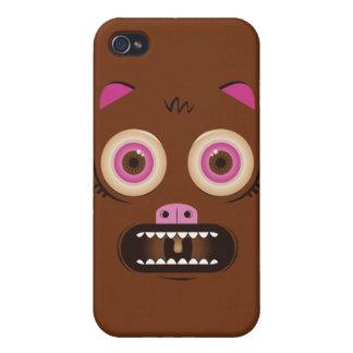 Lustiges verrücktes Monster iPhone 4 Case