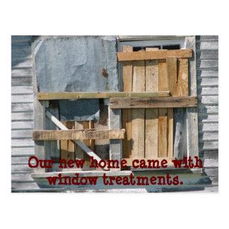 Lustiges verschalt herauf Fenster bewegten wir Postkarte