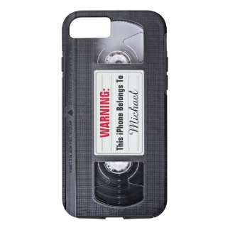 Lustiges VHS-Band mit Name-Text iPhone 8/7 Hülle