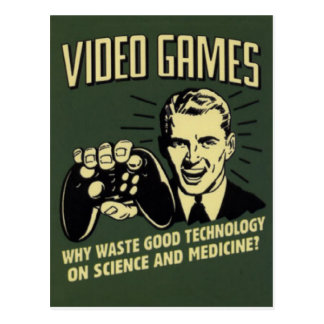 Lustiges Videospiel-Sprichwort Postkarte