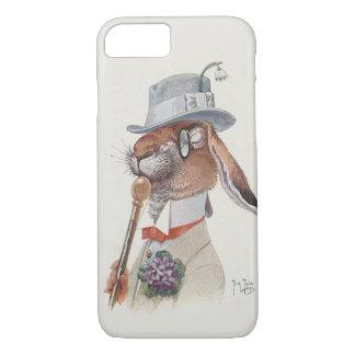Lustiges Vintages anthropomorphes Kaninchen iPhone 7 Hülle