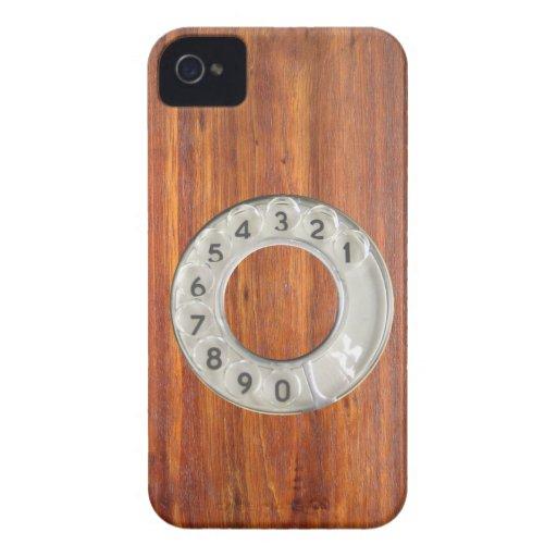 Lustiges Vintages hölzernes Skalatelefon iPhone 4 Hülle