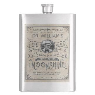 Lustiges Vintages Moonshine Flachmann