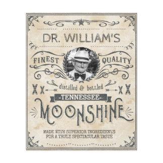Lustiges Vintages Moonshine Leinwanddruck
