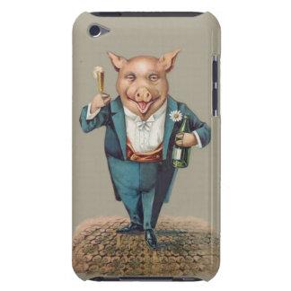 Lustiges Vintages Partying Schwein - süßes Tier Case-Mate iPod Touch Hülle