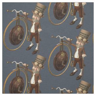 Lustiges Vintages Steampunk Penny-Farthing Stoff
