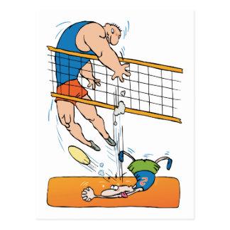 Lustiges Volleyball-Geschenk Postkarte