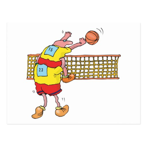 Lustiges volleyball geschenk postkarten zazzle - Volleyball geschenke ...