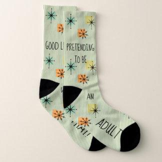 """Lustiges """"Vortäuschen, eine erwachsene"""" Retro Socken"""