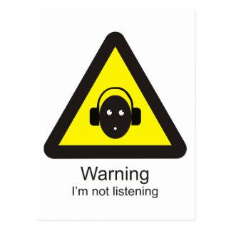 Lustiges warnendes Warnzeichen ': Ich bin nicht Postkarte