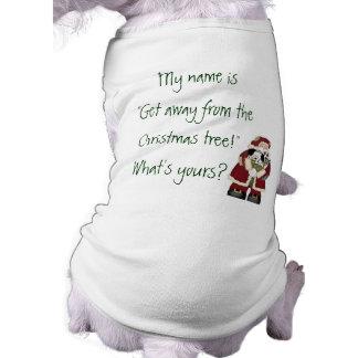 Lustiges Weihnachten Ärmelfreies Hunde-Shirt