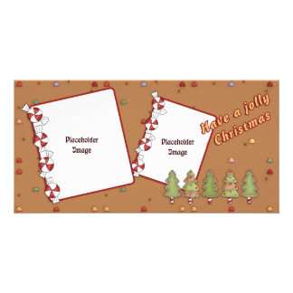 Lustiges Weihnachten - Baum und Süßigkeit Bilderkarten