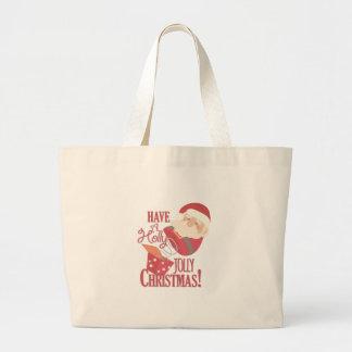 Lustiges Weihnachten Jumbo Stoffbeutel