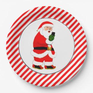 Lustiges Weihnachten Pappteller