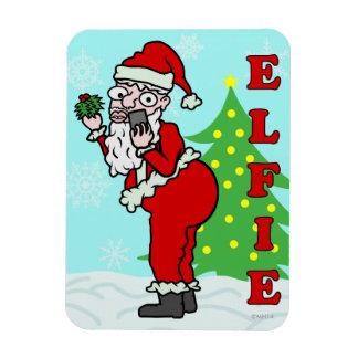 Lustiges Weihnachten Sankt Elfie Magnet
