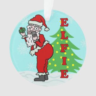Lustiges Weihnachten Sankt Elfie Ornament