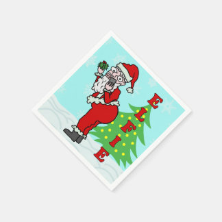 Lustiges Weihnachten Sankt Elfie Papierserviette