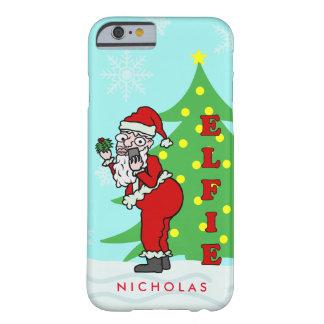 Lustiges Weihnachten Sankt Elfie personalisiert Barely There iPhone 6 Hülle