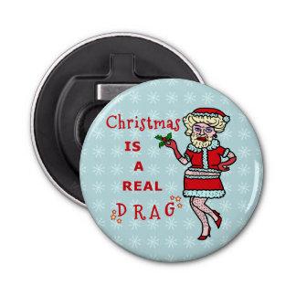 Lustiges Weihnachten Weihnachtsmann in Widerstand Flaschenöffner