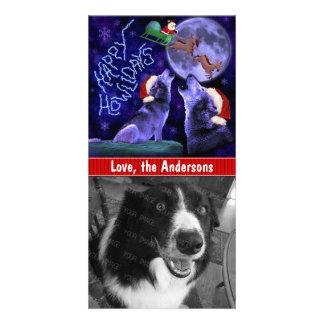 Lustiges Weihnachtenglücklicher Howlidays Fotokarten