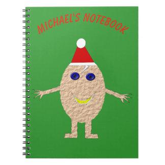 Lustiges Weihnachtsei-Gewohnheits-Notizbuch Notizblock