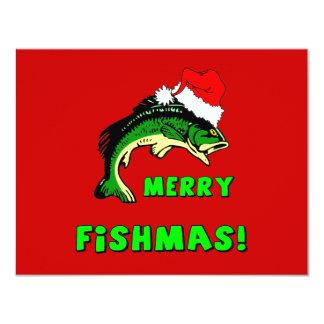 Lustiges Weihnachtsfischen Einladungskarten