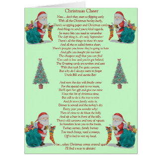 lustiges Weihnachtsgedicht Sankt und große Karte