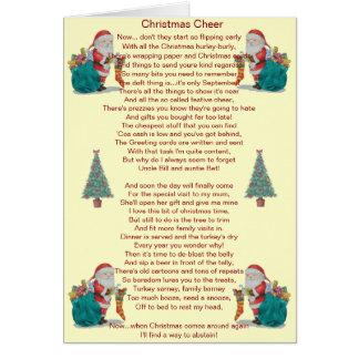 lustiges Weihnachtsgedicht Sankt und Grußkarte