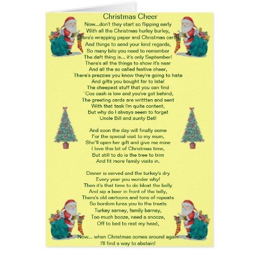lustiges Weihnachtsgedicht Sankt und Grußkarten