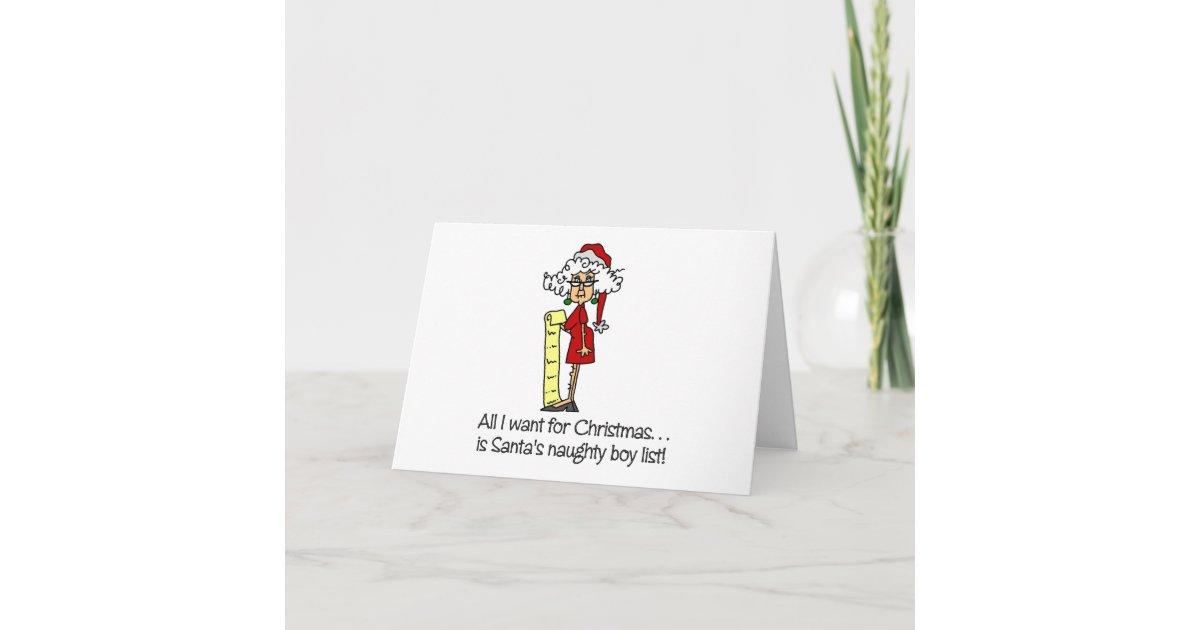 lustiges weihnachtsgeschenk weihnachtskarte zazzle. Black Bedroom Furniture Sets. Home Design Ideas