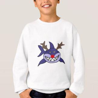 Lustiges Weihnachtshaifisch-Ren Sweatshirt