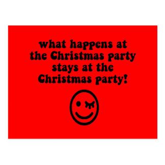 Lustiges WeihnachtsParty Postkarte