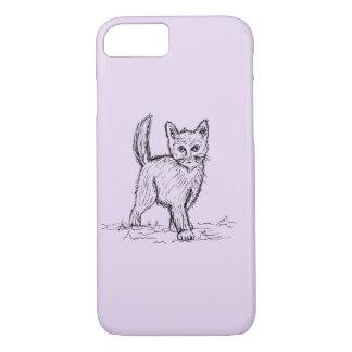 Lustiges wenig niedliches Katzen-Zeichnen iPhone 8/7 Hülle